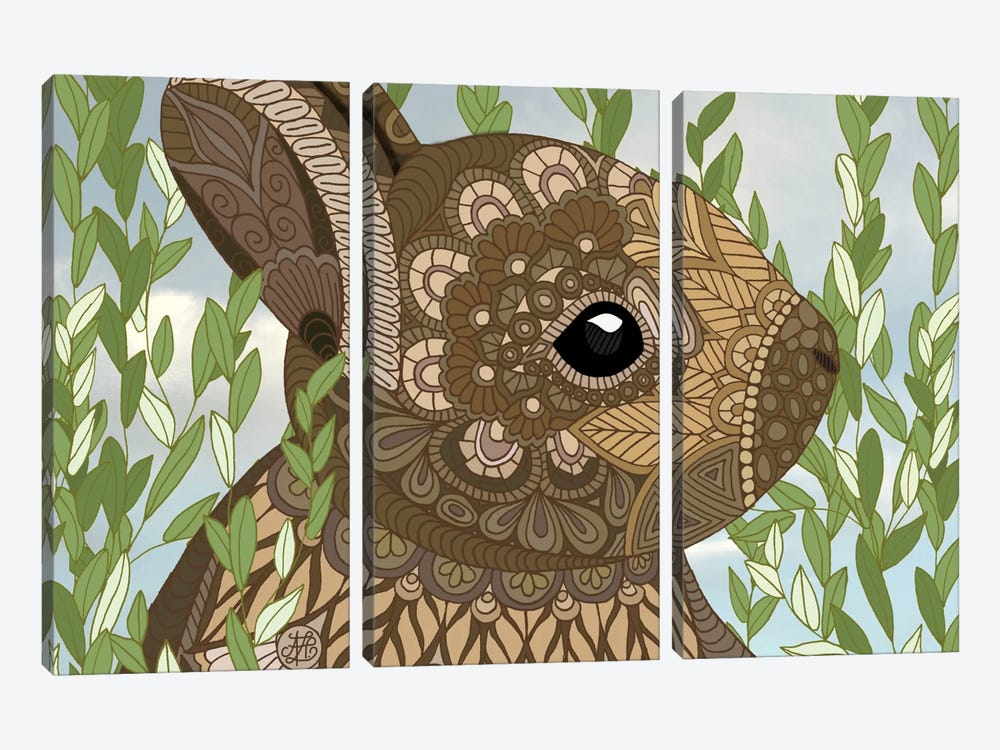 Baby Bunny by Angelika Parker 3-piece Canvas Print