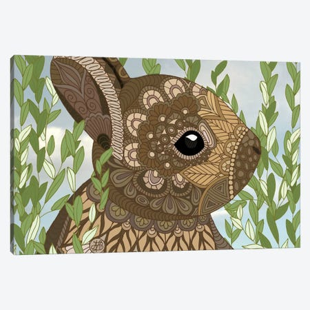 Baby Bunny Canvas Print #ANG4} by Angelika Parker Canvas Artwork