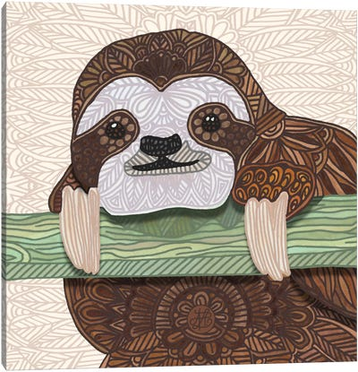 It's A Sloth Kind Of Day Canvas Art Print