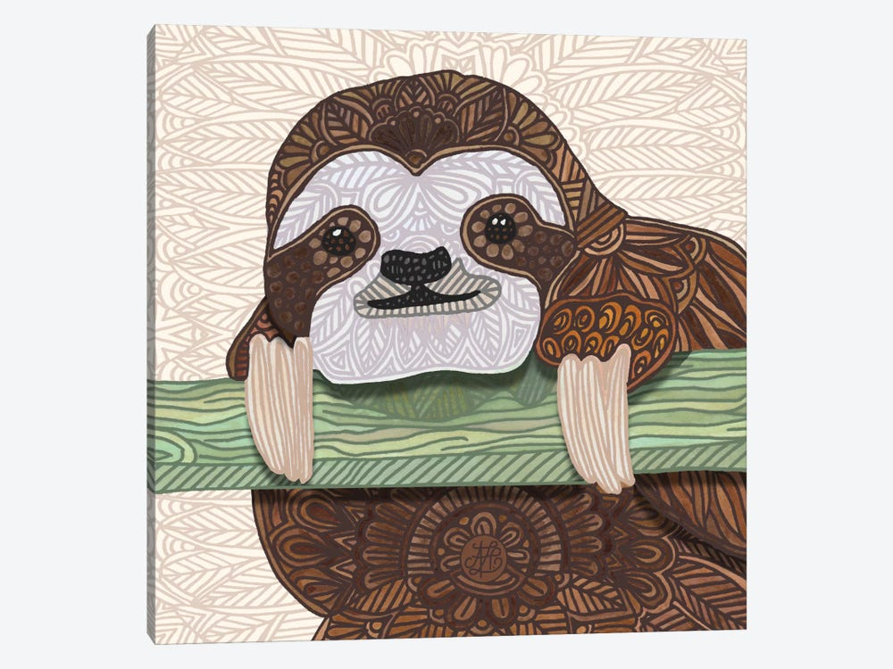 It's A Sloth Kind Of Day by Angelika Parker 1-piece Canvas Art Print