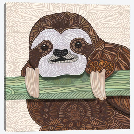 It's A Sloth Kind Of Day 3-Piece Canvas #ANG50} by Angelika Parker Canvas Art