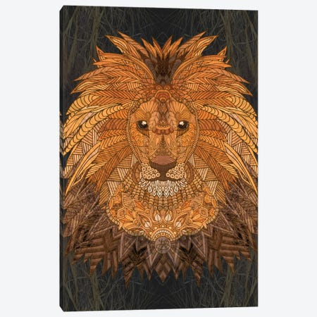 King Lion Canvas Print #ANG52} by Angelika Parker Canvas Artwork