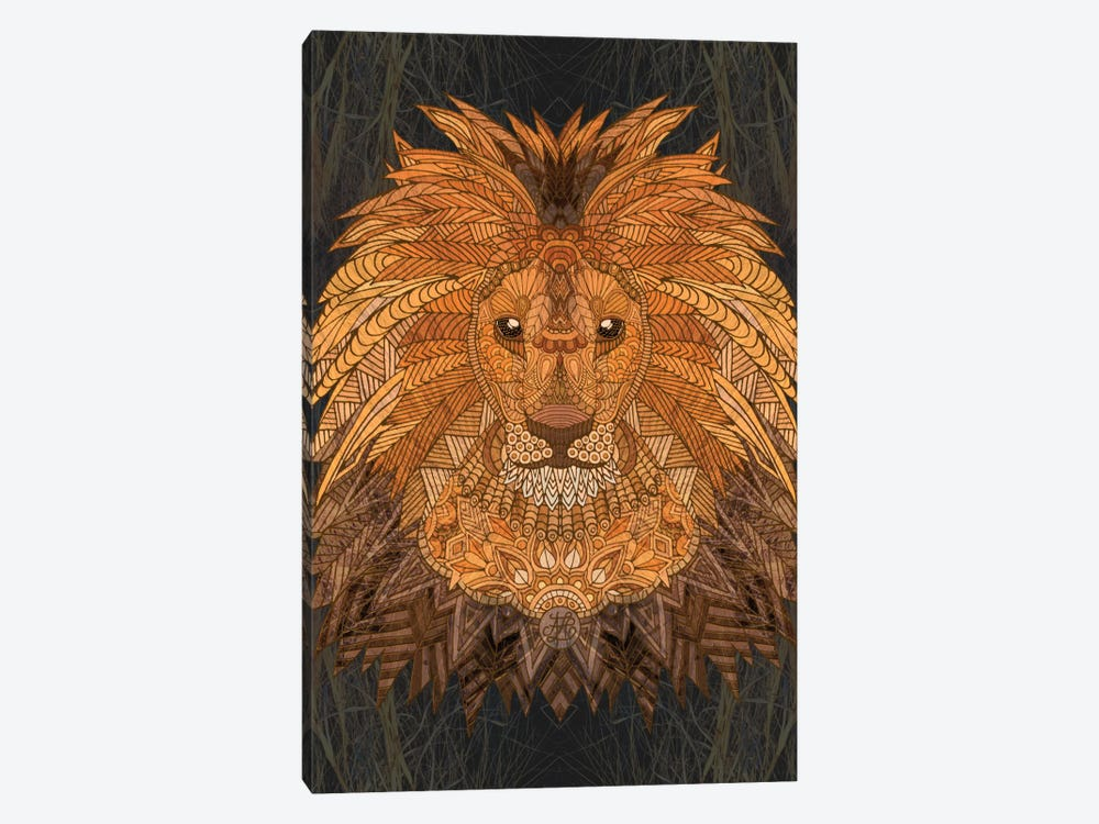 King Lion by Angelika Parker 1-piece Canvas Print