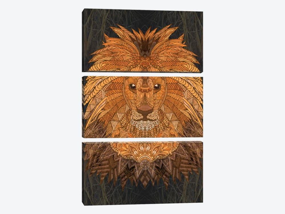 King Lion by Angelika Parker 3-piece Art Print
