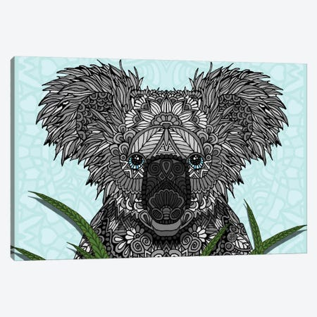 Koala Canvas Print #ANG53} by Angelika Parker Canvas Wall Art