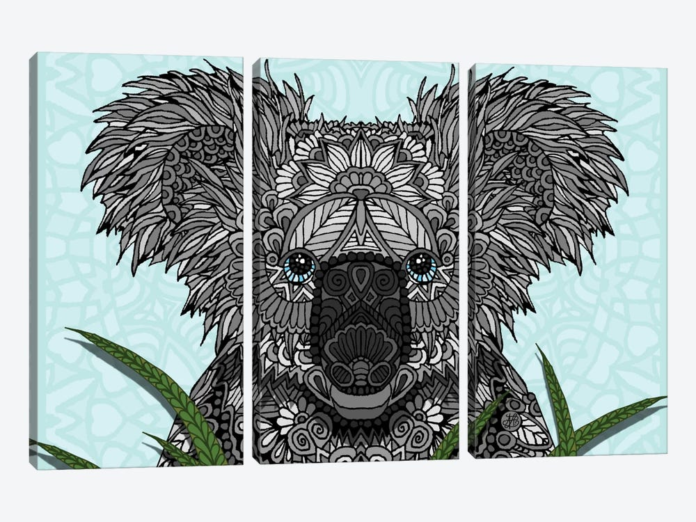 Koala by Angelika Parker 3-piece Canvas Artwork