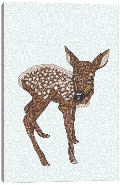 Little Fawn Canvas Art Print