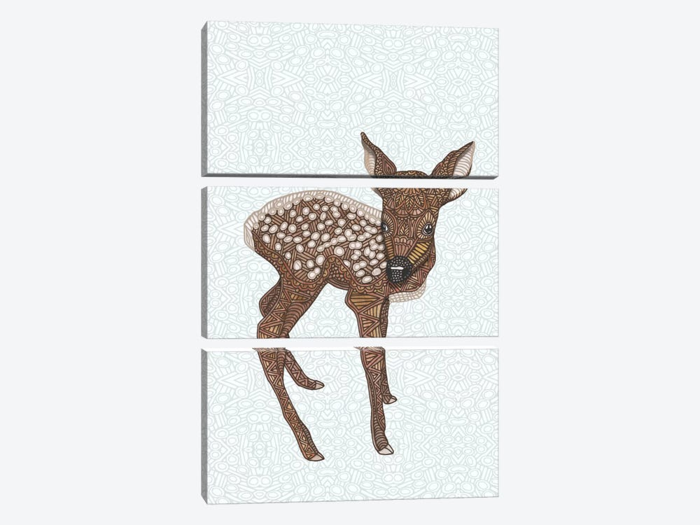 Little Fawn by Angelika Parker 3-piece Canvas Wall Art