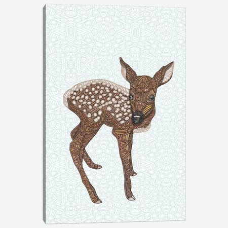 Little Fawn Canvas Print #ANG57} by Angelika Parker Art Print