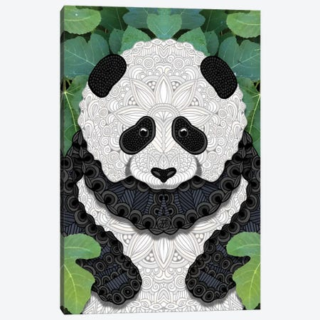 Little Panda Canvas Print #ANG59} by Angelika Parker Canvas Wall Art