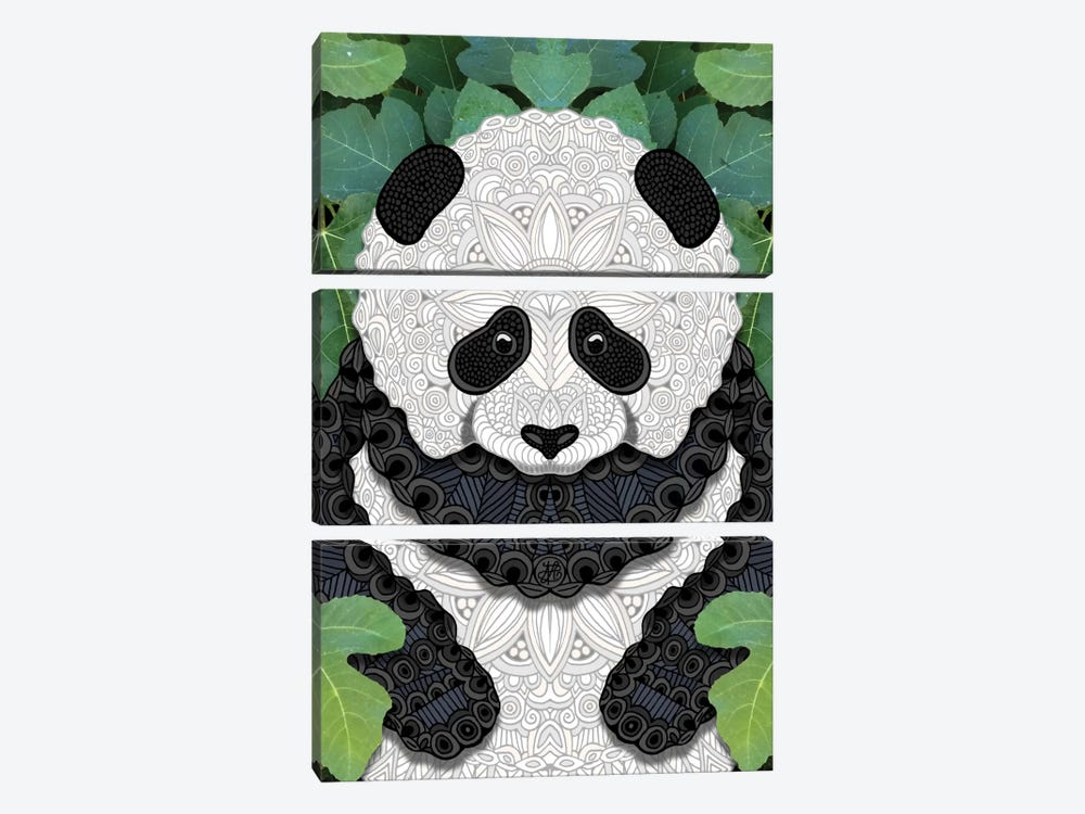 Little Panda by Angelika Parker 3-piece Canvas Artwork