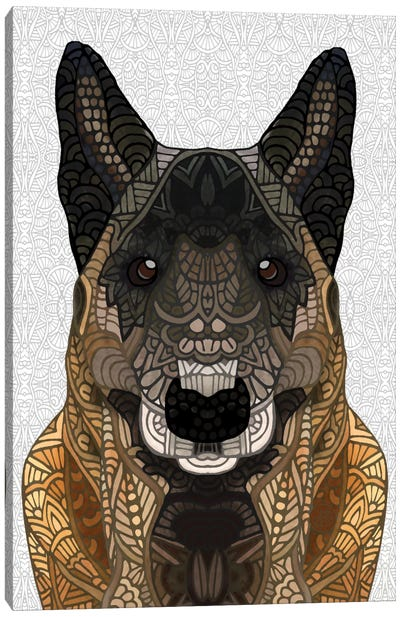 Malinois - Belgian Shepherd Canvas Art Print
