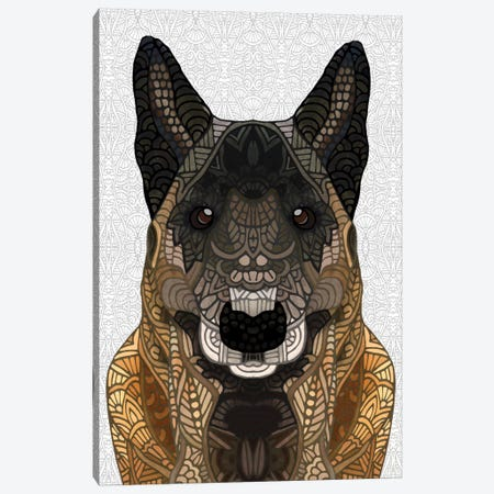 Malinois - Belgian Shepherd Canvas Print #ANG61} by Angelika Parker Art Print