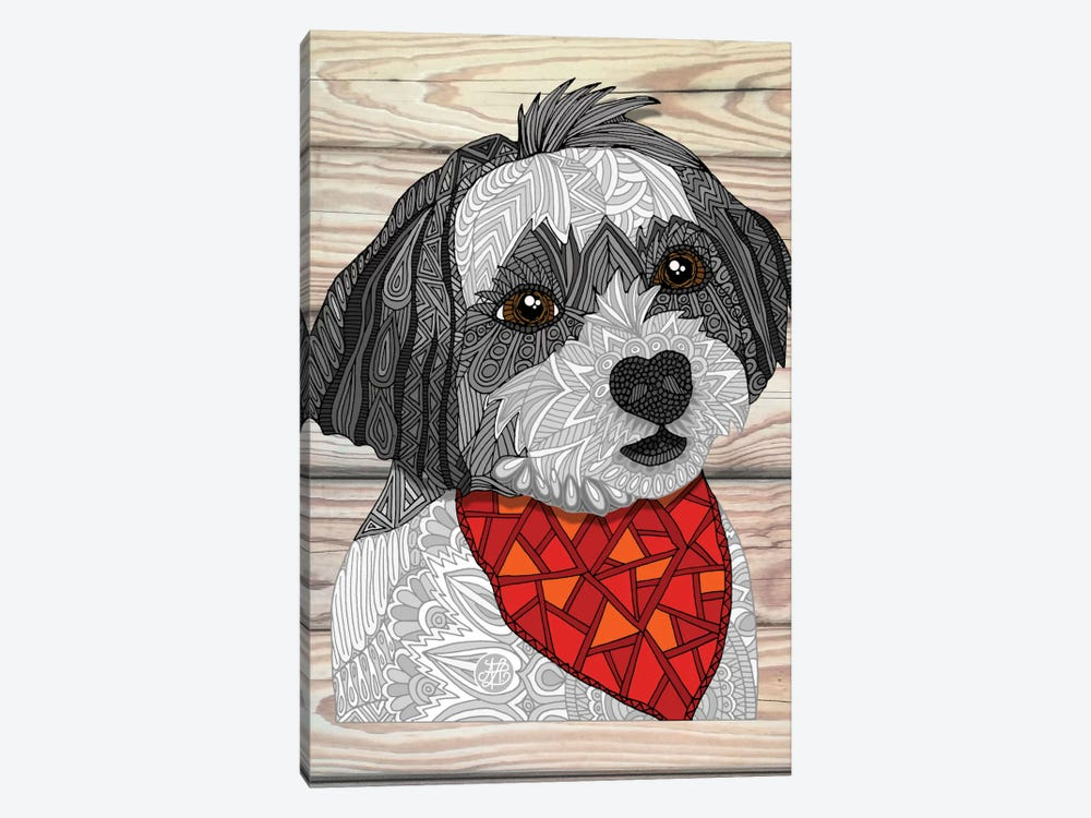 Max The Havanese by Angelika Parker 1-piece Canvas Artwork