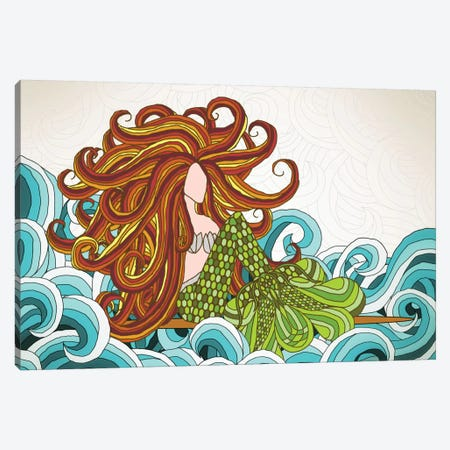 Mermaid Waves Canvas Print #ANG63} by Angelika Parker Art Print