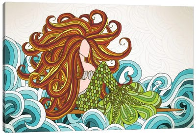 Mermaid Waves Canvas Art Print