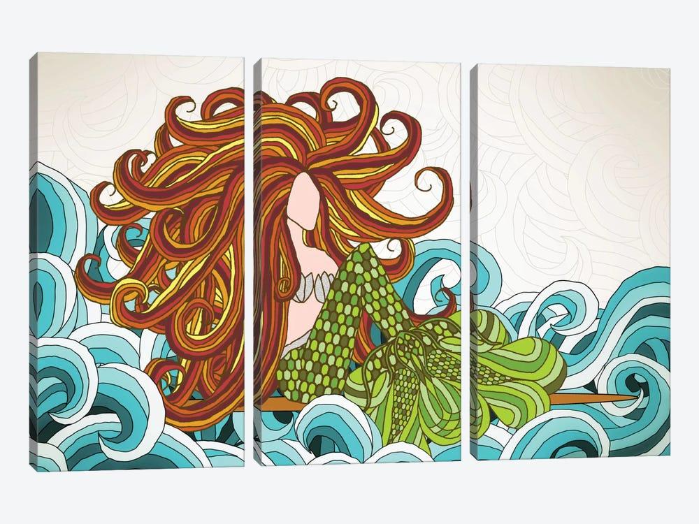 Mermaid Waves by Angelika Parker 3-piece Art Print