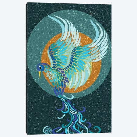 New Water Phoenix Canvas Print #ANG67} by Angelika Parker Canvas Art