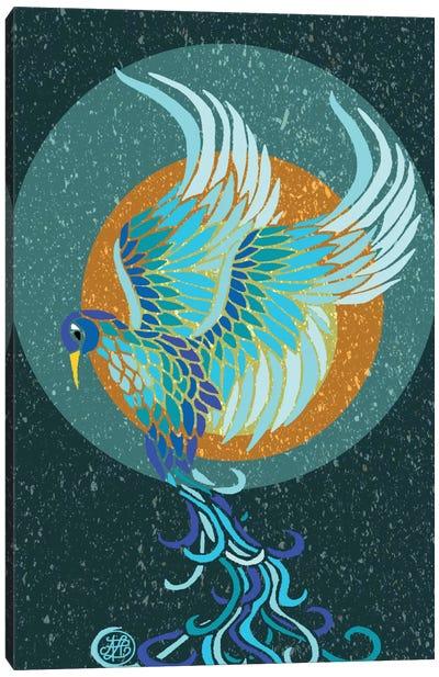 New Water Phoenix Canvas Print #ANG67