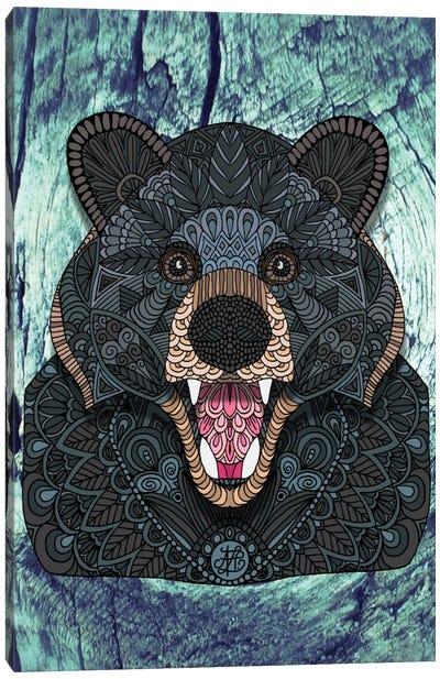 Ornate Black Bear Canvas Print #ANG68