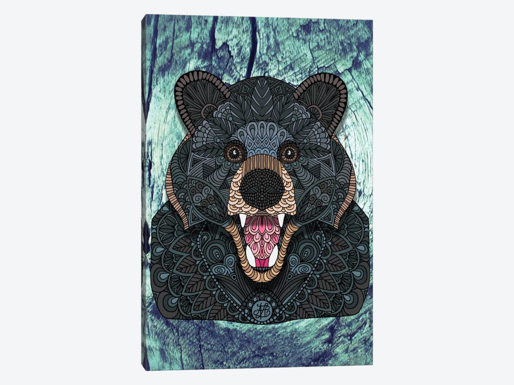 Ornate Black Bear by Angelika Parker 1-piece Canvas Artwork