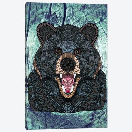 Ornate Black Bear Canvas Print #ANG68} by Angelika Parker Canvas Art Print