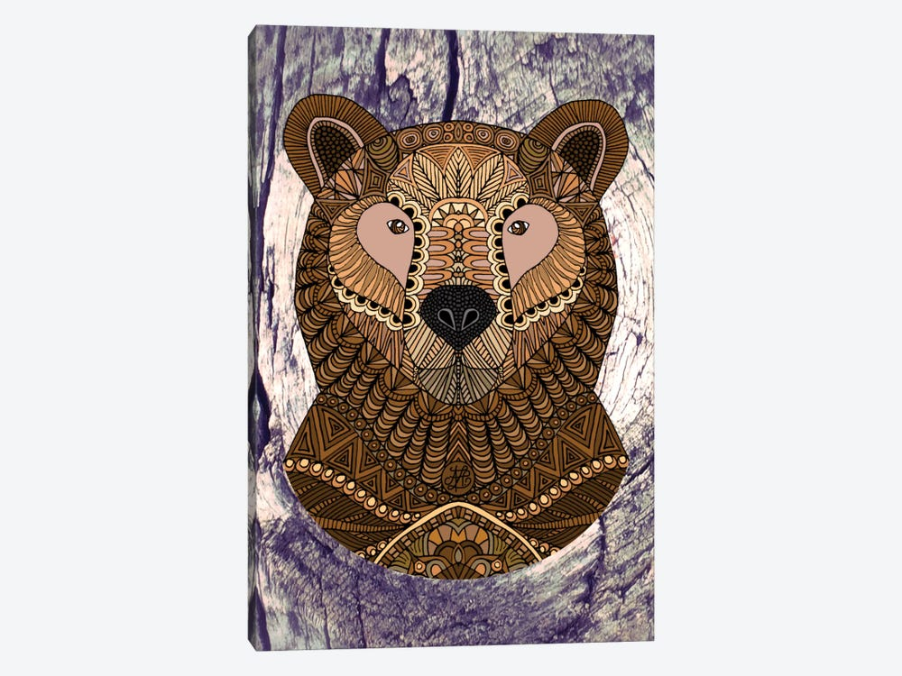 Ornate Brown Bear by Angelika Parker 1-piece Art Print