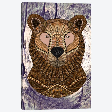Ornate Brown Bear 3-Piece Canvas #ANG69} by Angelika Parker Canvas Print