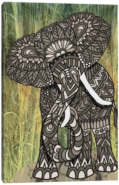 Ornate Elephant Canvas Art Print
