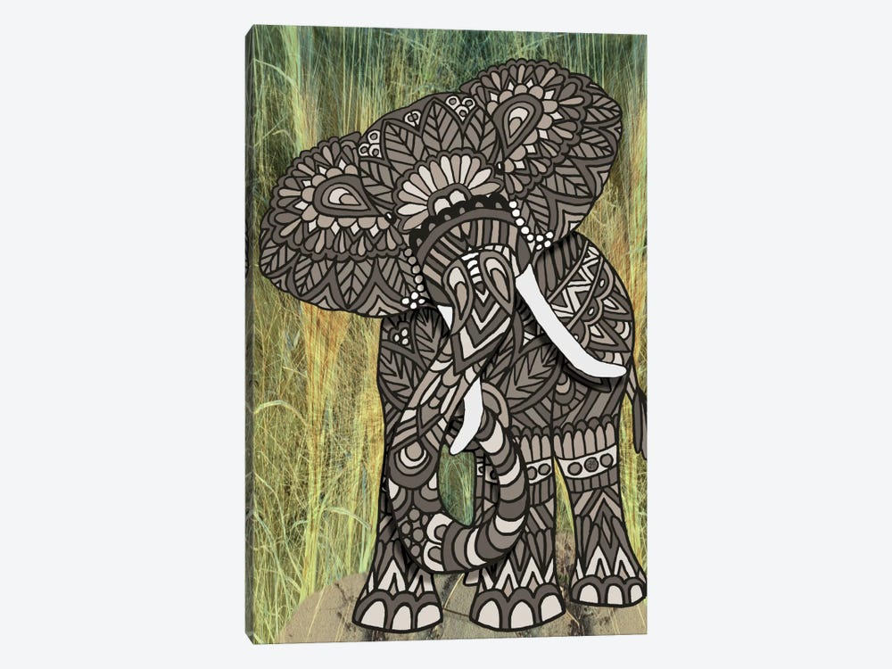 Ornate Elephant by Angelika Parker 1-piece Canvas Art Print
