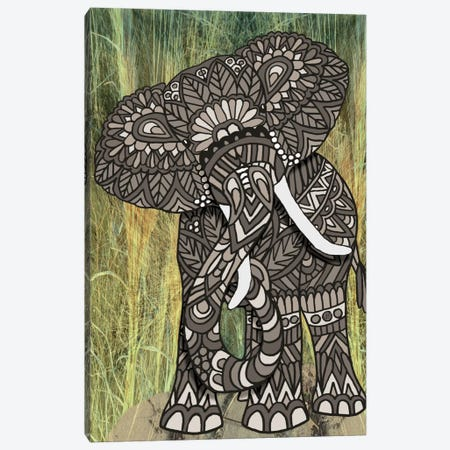 Ornate Elephant Canvas Print #ANG70} by Angelika Parker Canvas Wall Art