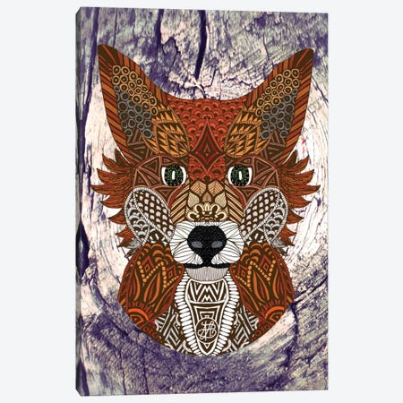 Ornate Fox Canvas Print #ANG71} by Angelika Parker Canvas Art