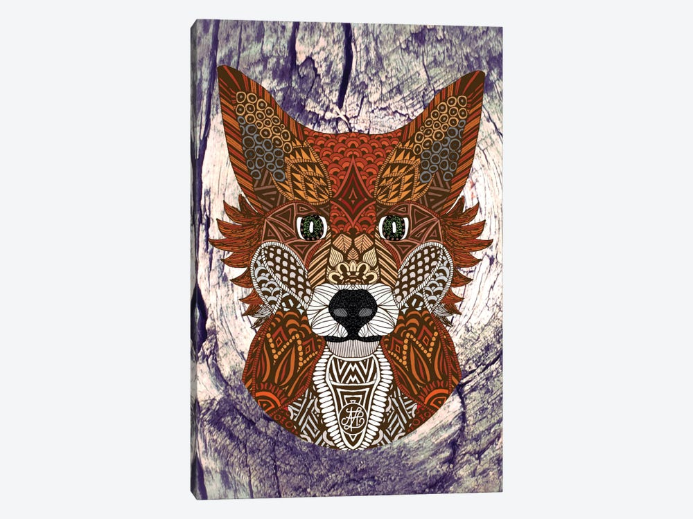 Ornate Fox by Angelika Parker 1-piece Canvas Artwork