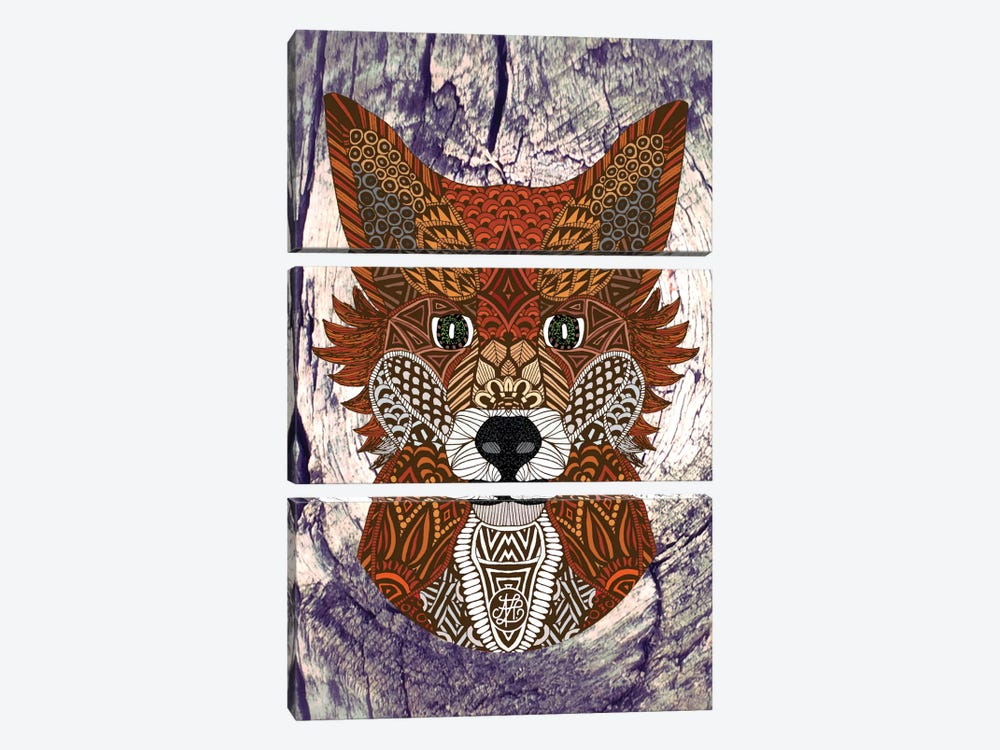 Ornate Fox by Angelika Parker 3-piece Canvas Artwork