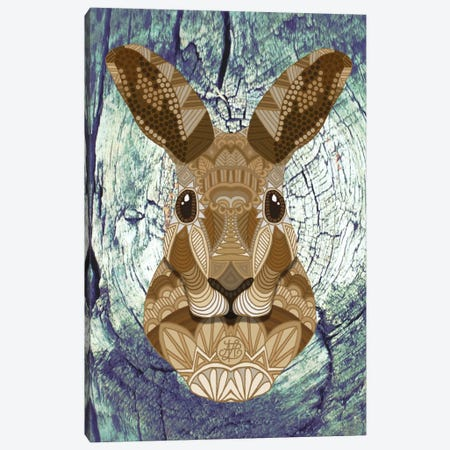 Ornate Hare Canvas Print #ANG72} by Angelika Parker Canvas Wall Art