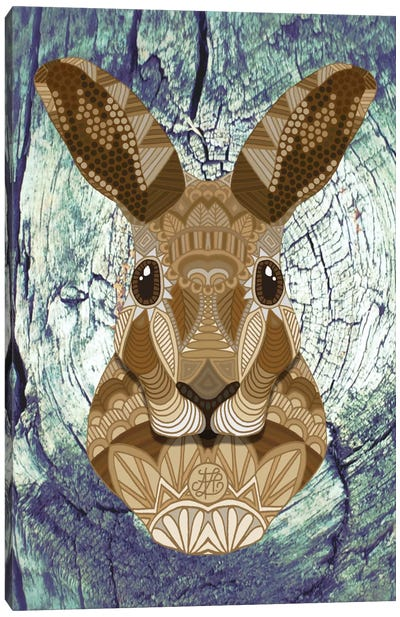 Ornate Hare Canvas Art Print