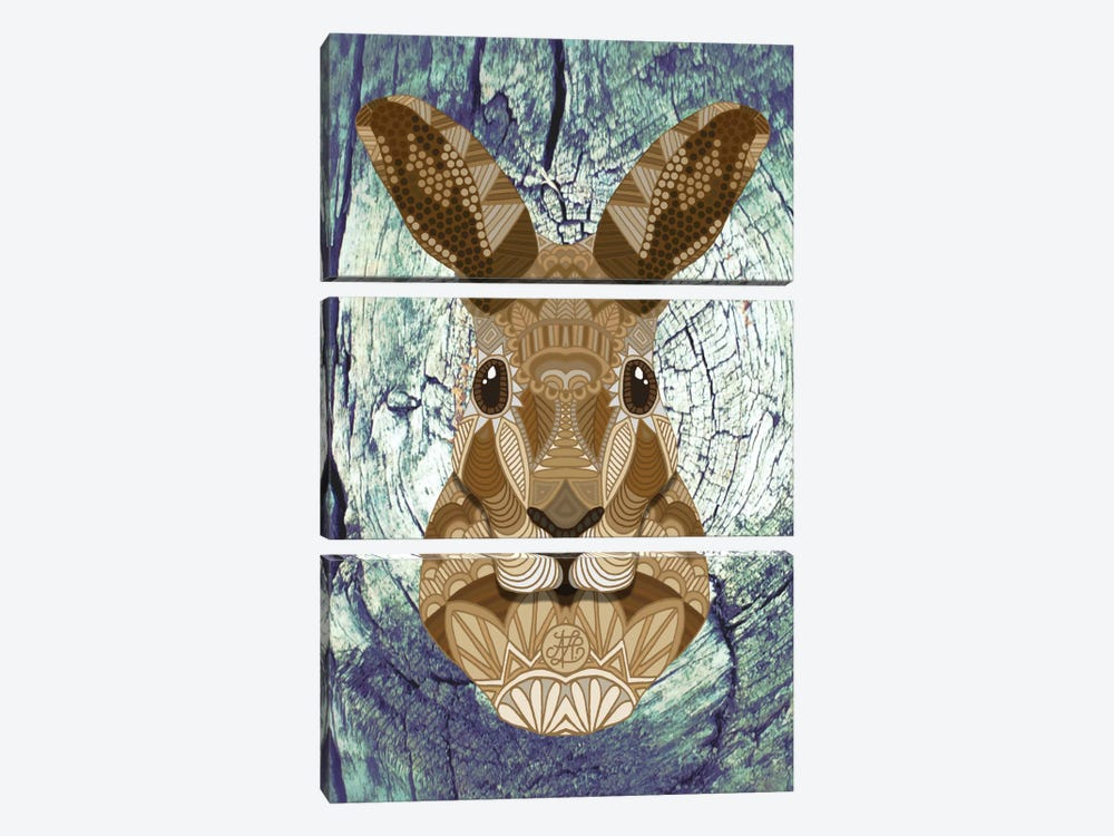 Ornate Hare by Angelika Parker 3-piece Canvas Art Print