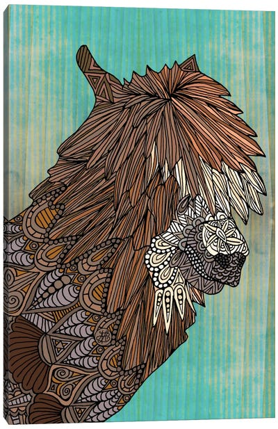 Ornate Llama Canvas Art Print