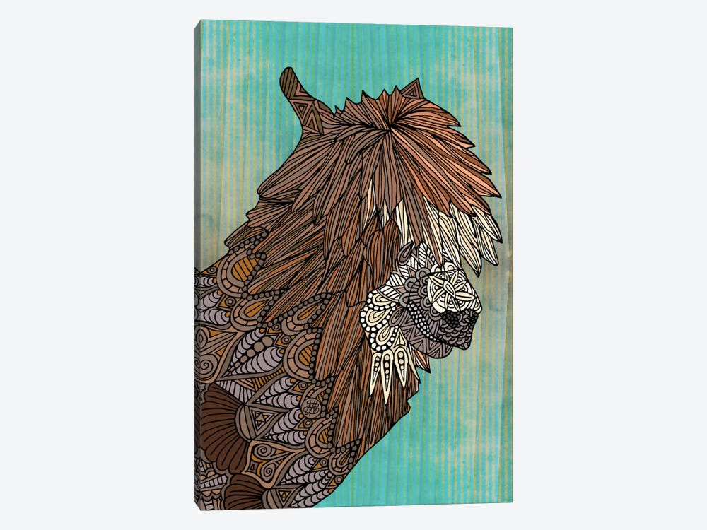 Ornate Llama by Angelika Parker 1-piece Canvas Artwork