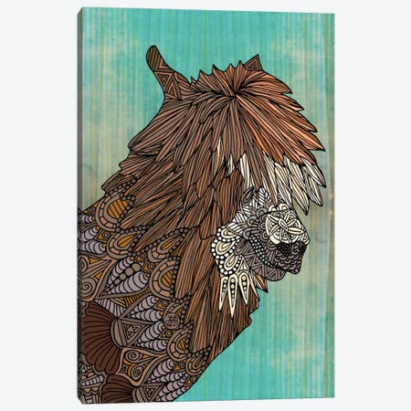 Ornate Llama Canvas Print #ANG73} by Angelika Parker Canvas Artwork