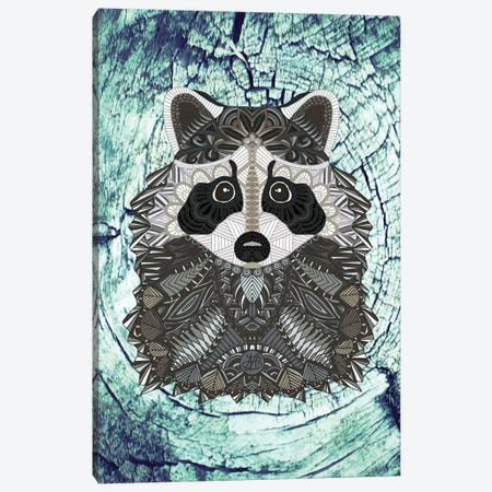 Ornate Raccoon Canvas Print #ANG75} by Angelika Parker Canvas Art Print