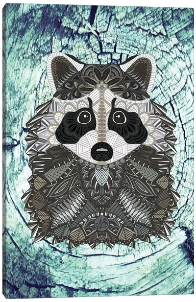 Ornate Raccoon Canvas Art Print