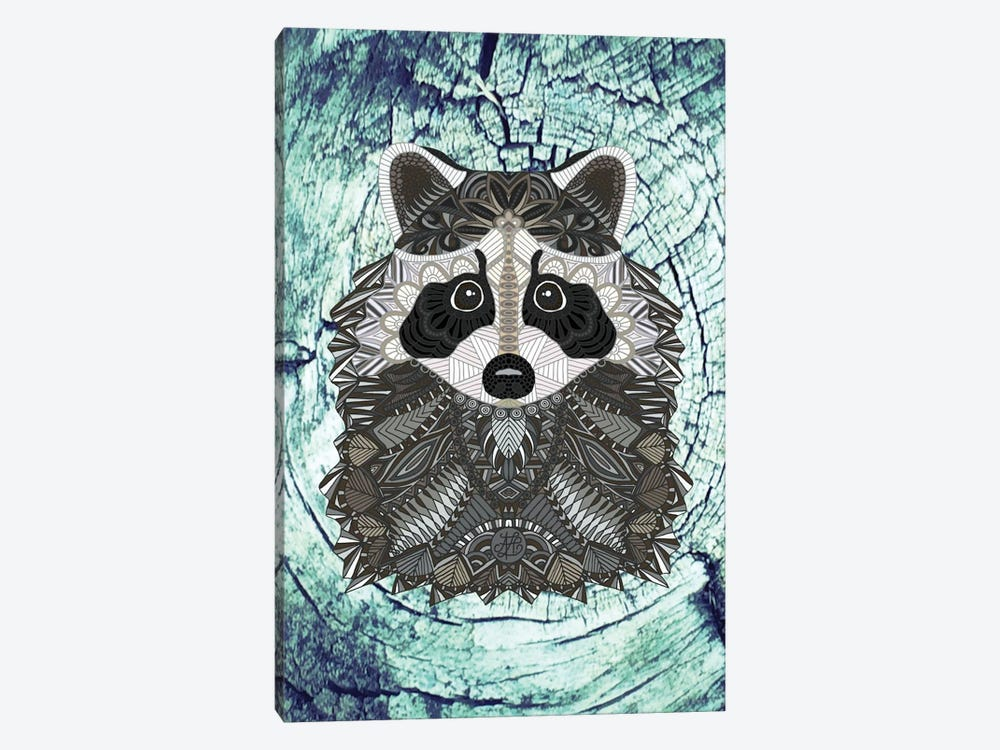 Ornate Raccoon by Angelika Parker 1-piece Canvas Artwork