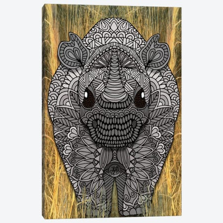 Ornate Rino Canvas Print #ANG76} by Angelika Parker Canvas Art Print