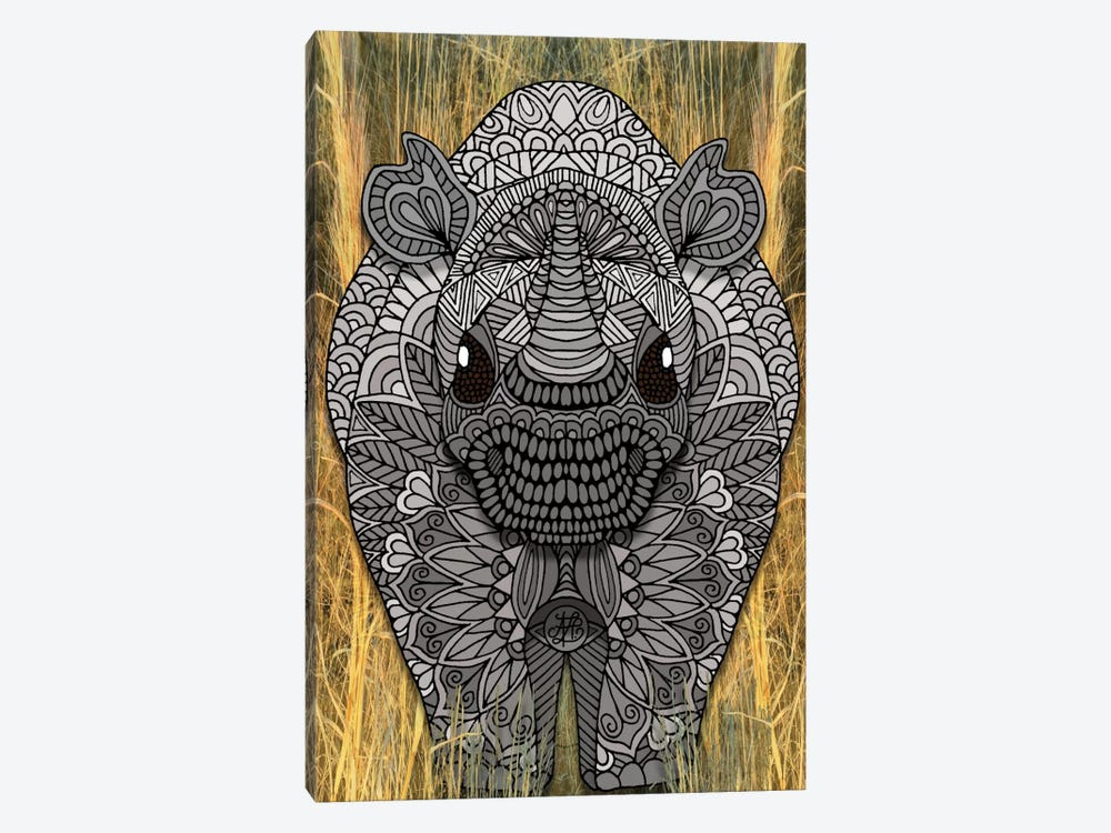 Ornate Rino by Angelika Parker 1-piece Canvas Print