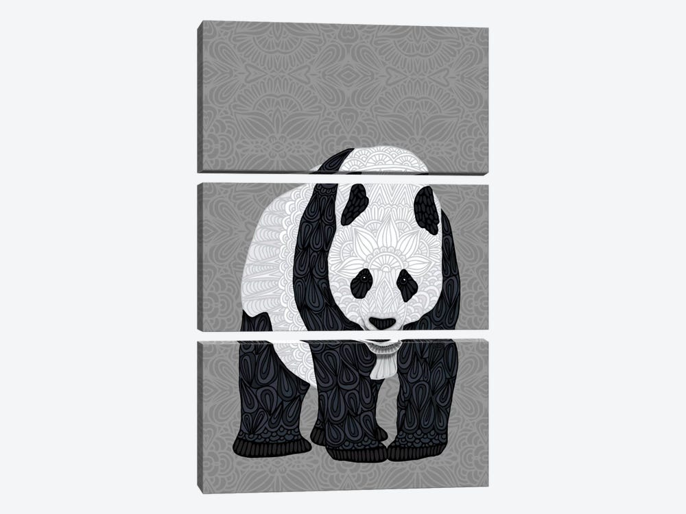Papa Panda by Angelika Parker 3-piece Canvas Artwork