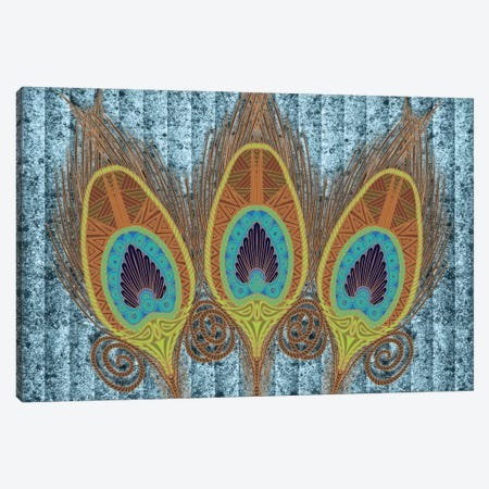 Peacock Feathers Canvas Print #ANG78} by Angelika Parker Canvas Artwork
