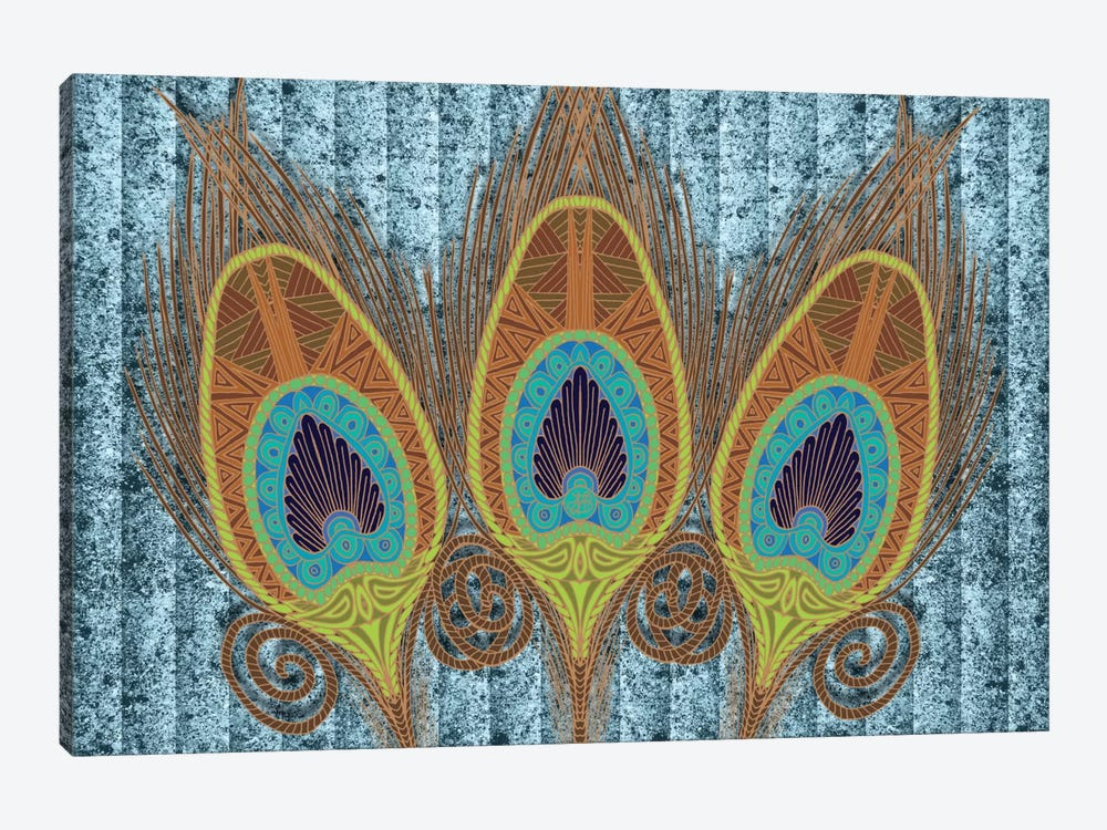Peacock Feathers by Angelika Parker 1-piece Art Print
