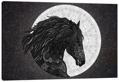 Black Horse Canvas Art Print