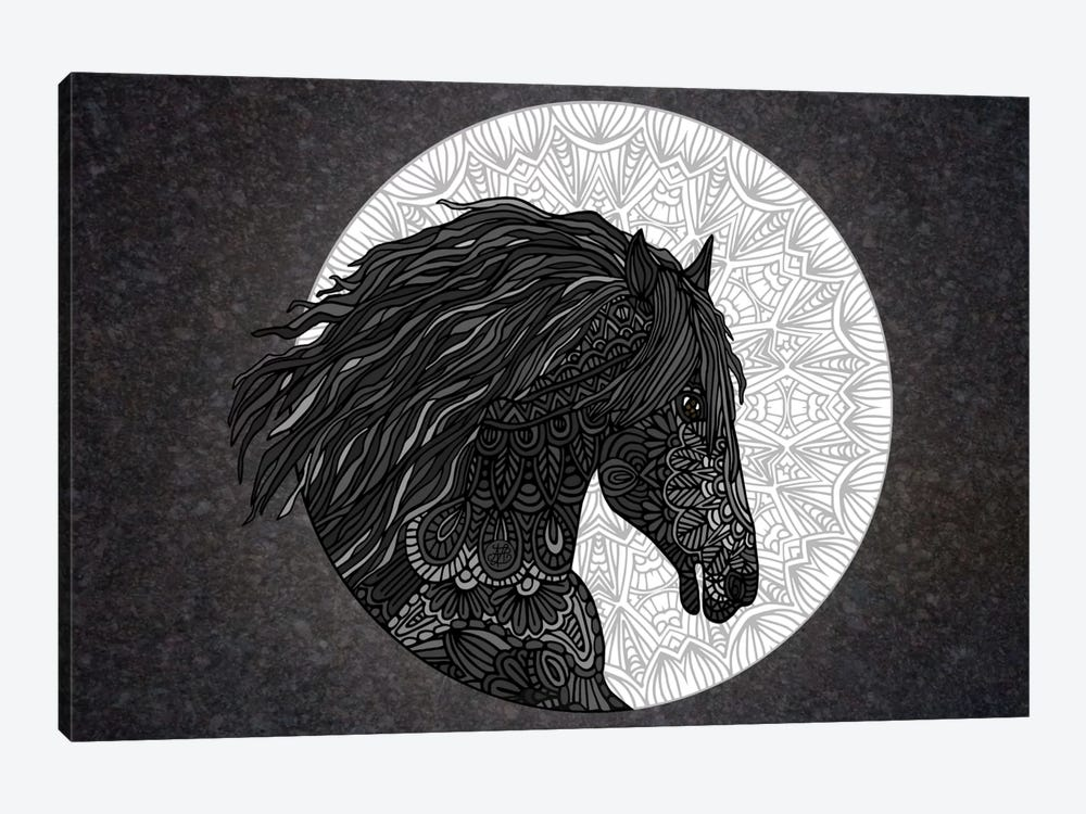 Black Horse 1-piece Canvas Art